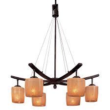 minka lavery raiden 6 light iron oxide downlight chandelier