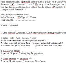 Contoh soal pilihan ganda bahasa indonesia kelas 7 kurikulum 2013 ini tentang teks deskripsi yang telah di revisi 2017. Kunci Jawaban Bahasa Sunda Kelas 7 Kurikulum 2013 Guru Galeri