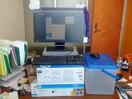 standing desk at work