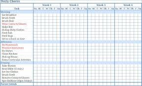 Kids Chore Chart Templates Barca Fontanacountryinn Com