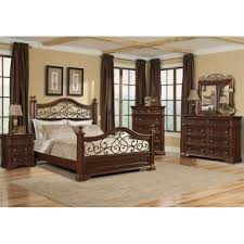San Marcos Bedroom Bed Dresser & Mirror King 872 Bedroom