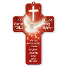 confirmation cross seven gifts 18cm