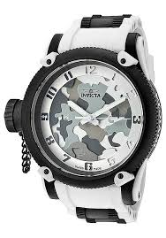 invicta watches men s russian diver limited edition white grey invicta watches men s russian diver limited edition white grey dial white rubber 1195