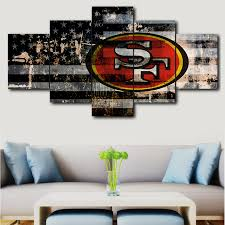 Image Market Street Panel Canvas Wall Art Deco Modern Decorative Picture San Francisco 49ers Sport Logo Canvas Painting Wall Picture For Living Aliexpress Panel Canvas Wall Art Deco Modern Decorative Picture San Francisco