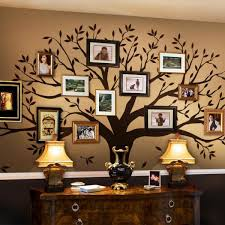 simple shapes family tree wall decal