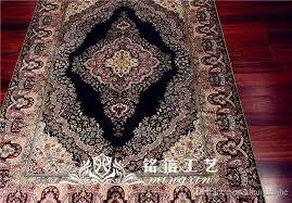 mingxin carpet 3x4 5 feet black persian flower luxury hand knotted silk persian oriental handmade carpet floor mat shaw carpeting vinyl carpet from