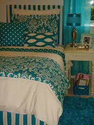 blue stylish dorm bedding