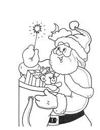 Klein Lichtje Van Kerstman Kleurplaat Gratis Kleurplaten Printen