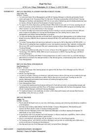 Retail Trainer Sample Resume Retail Trainer Resume Samples Velvet Jobs 4
