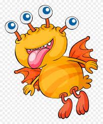 ch b four eyes monster cartoon