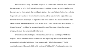 the necessary dichotomy in swift s a modest proposal seelio