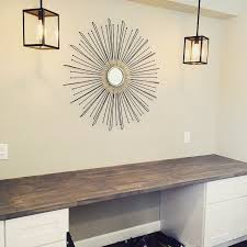 home depot office cabinets. DIY Built-In Desk Using Ikea Butcher Block And Home Depot Height Cabinets. Pendent Lights From Lowes. Office Cabinets C