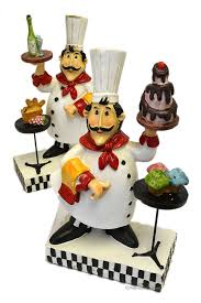 fat chef decor find deals line figurines kitchen get quotations set resin distressed french statues valance italian towels rug canisters collection paper