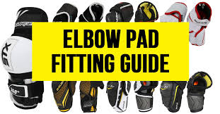 Hockey Elbow Pad Size Chart Elbow Pad Fitting Guide For Hockey Players