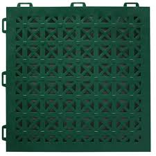 greatmats staylock perforated green 12 in x 12 in x 0 56 in pvc