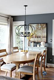 how to create a paint color palette dining room with benjamin moore steel wool and drum pendant