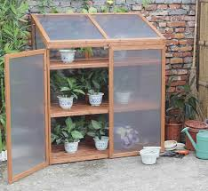 charles bentley wooden large double cold frame with shelves 1