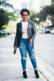 leather jacket outfit with jeans