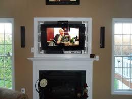 image of fireplace tv mount motorized