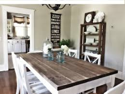 Rustic Wooden Kitchen Table Grey Rustic Dining Table