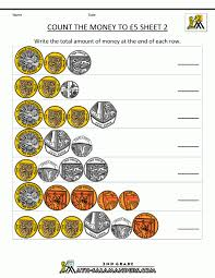 Math Worksheets Counting Money 2nd Grade Up To Class Pinterest 1st ...