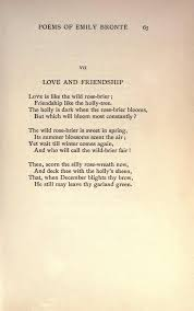Love And Friendship By Emily Bronte Old Poetry Poetic