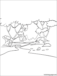 Forest Coloring Page Coloring Pages