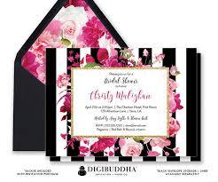 Black And White Invitation Paper Bridal Shower Invitation Bridal Shower Invite Black White