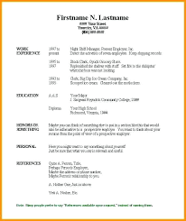 Quick And Easy Resume Examples Template Free Templates Word Builder
