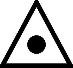日本地図記号の三角測量ポイントのクリップアート クリップ アート