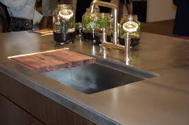 countertop for kitchen island display top in artisan cast stainless steel