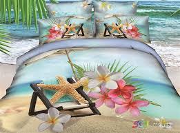 beach themed bedding 3d 100 cotton bedding set bedding collections print 4pcs duvet cover set luxury bedding linen 218