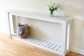 diy sofa table. Perfect Table DIY Sofa Table  Farmhouse Style To Diy Sofa Table E