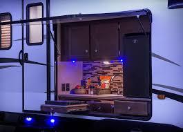 venture toy hauler with outdoor kitchen