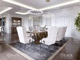 Großer Esstisch Für 8 Personen Im Klassischen Stil Esszimmer
