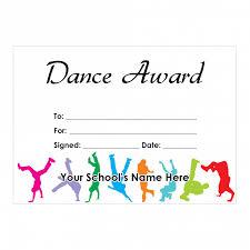 Dance Award Certificate Dance Certificate Set 2