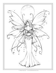 Creative Haven Enchanted Fairies Coloring Page Adult Book Fairy