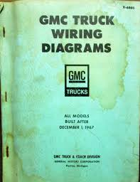gmc dealer electrical wiring diagram service manual all truck models 1968 gmc dealer electrical wiring diagram service manual all truck models