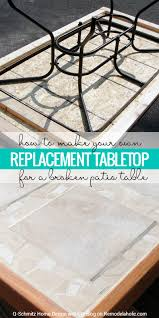 broken patio table top no problem make your own replacement tabletop with some lumber