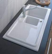 Built In Ceramic Kitchen Sinks Duravit Cassia Duraceram 1 Built Ceramic Kitchen Sink By Duravit