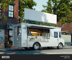 3d Food Truck Design White Food Truck Image Photo Free Trial Bigstock