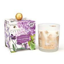 <b>Lilac</b> and Violets 14 oz. Soy Wax Candle