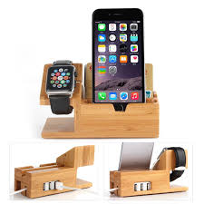 universal for apple watch mobile phone natural solid bamboo charging anti skid convenient for you put your device free for whole