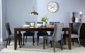 furniture 1 bewley bewleys bossier round dark wood extending dining table and 6 chairs