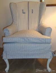 antique ticking slipcovers for side of the road wingchairs upholstered furniturefurniture chairspaint