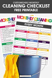 cleaning checklists customizable diy cleaning checklist free printable