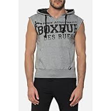 HOODED <b>SLEEVELESS</b> BIG PRINT SWEAT | Boxeur Des Rues
