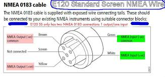 need help wiring new vhf to nema 0183 the hull truth boating e120 standard screen classic wiring diagram