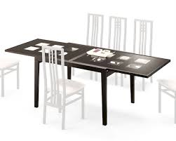 expandable dining table paloma w frosted glass top italy d