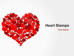 Heart Powerpoint Templates Heart Stamps Powerpoint Template One Of A Number Of Nice